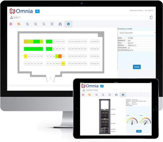 Omnia Asset Management interface in devices