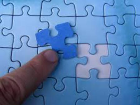 Completing puzzle